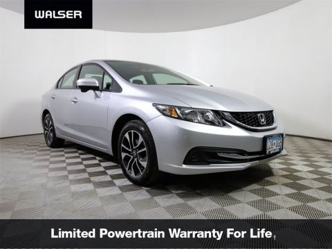Certified Pre-Owned 2015 Honda Civic EX MOON CERTIFIED